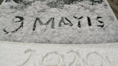 Photo of 9 Mayısta Erzurum'da kar yağdı