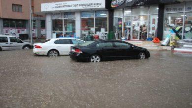 Photo of Oltu'da dolu ve sağanak yağış etkili oldu