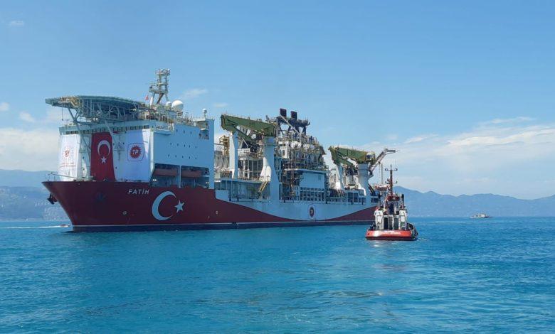"""Türkiye'nin ilk yerlisondajgemisi """"Fatih"""" Trabzon'a geldi"""