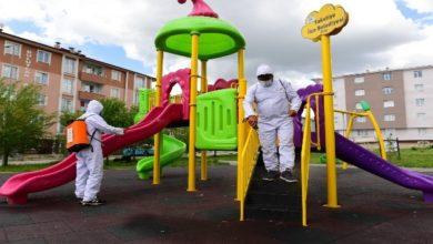 Photo of Yakutiye'deki parklar çocuklar için yeniden dezenfekte edildi
