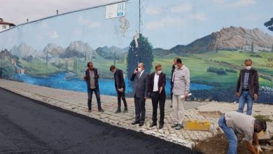 Photo of Aşkale'de asfaltlama çalışması başladı